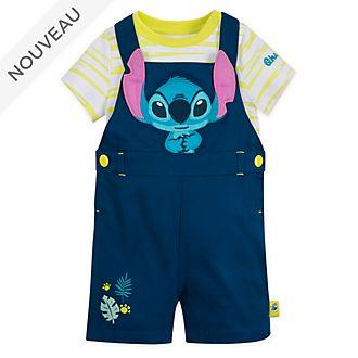 Disney Store Ensemble body et salopette Stitch pour bébés