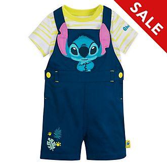 Disney Store - Stitch - Set aus Latzhose und Body für Babys
