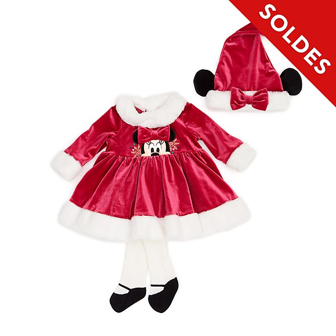 Disney Store Ensemble robe et collants Minnie pour bébés, Holiday Cheer
