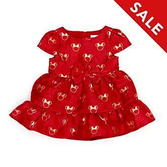 Disney Store Minnie Mouse Holiday Cheer Baby Dress and Bloomers Set