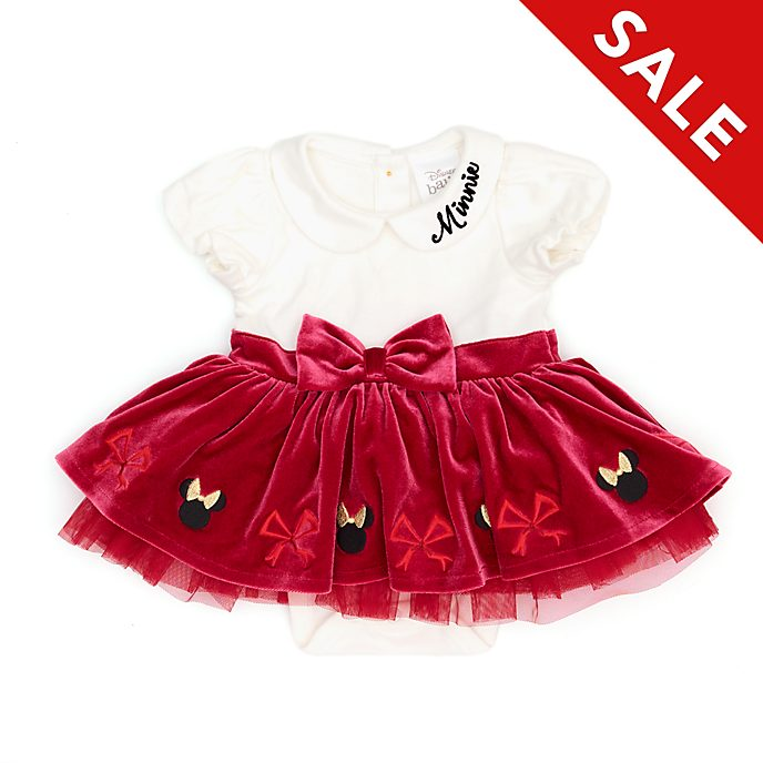 Disney Store Minnie Mouse Holiday Cheer Baby Tutu Body Suit