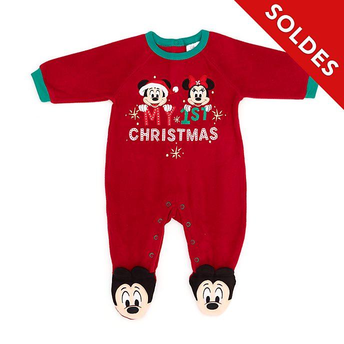 Disney Store Body molletonné Mickey et Minnie pour bébés, Holiday Cheer