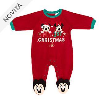 Tutina copertina baby Topolino e Minni Holiday Cheer Disney Store