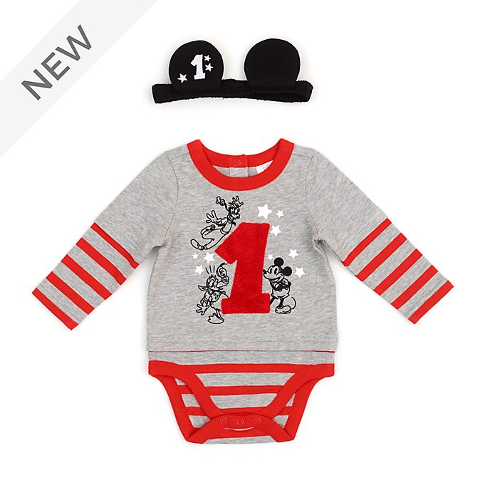 Disney Store Mickey and Friends My First Birthday Baby Body Suit