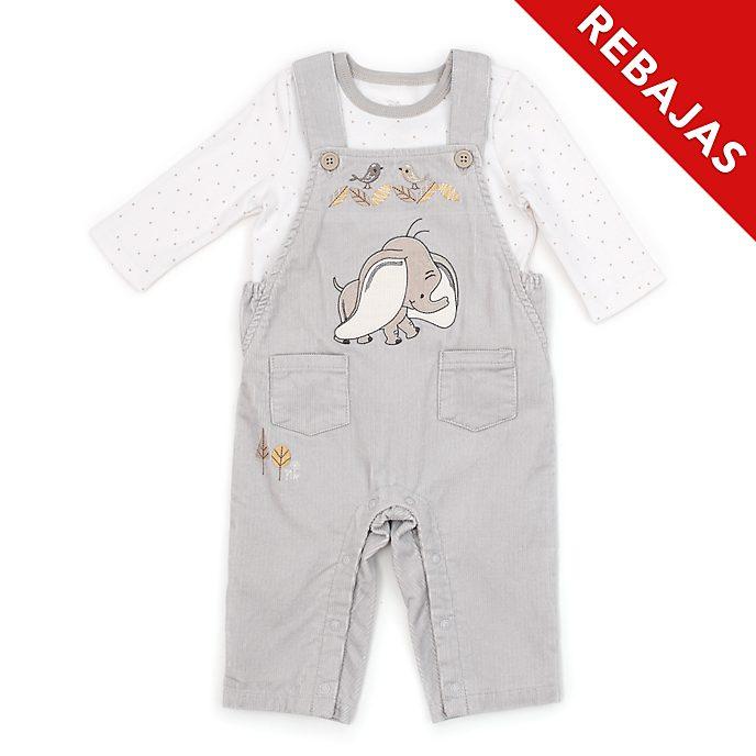 Conjunto peto y camiseta para bebé Dumbo, Disney Store