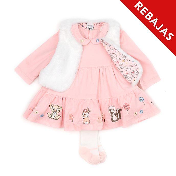 Conjunto vestido y chaleco para bebé Simba y Conejita, Disney Store