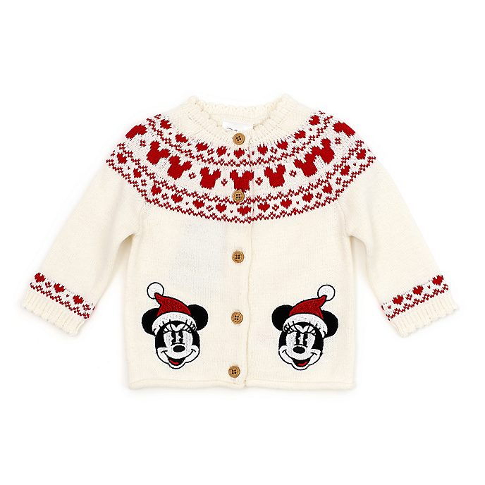 Disney Store - Holiday Cheer - Minnie Maus - Baby-Strickjacke