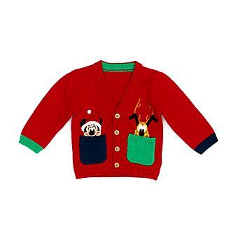 Disney Store Cardigan Mickey et Pluto pour bébés, Holiday Cheer
