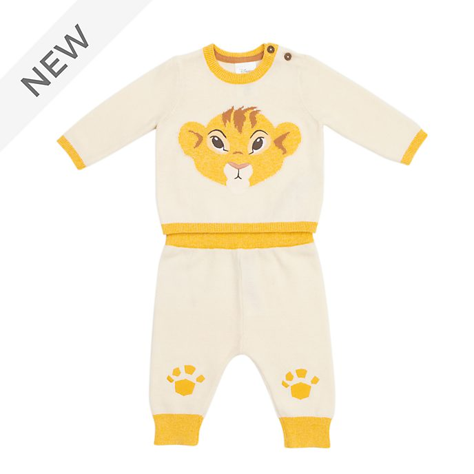 Disney Store Simba Baby Knitted Top and Bottoms Set
