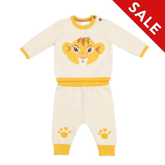 Disney Store - Simba - Gestricktes Set aus Oberteil und Hose für Babys