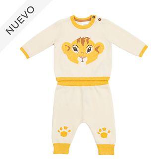 Conjunto camiseta y pantalón punto Simba para bebé, Disney Store