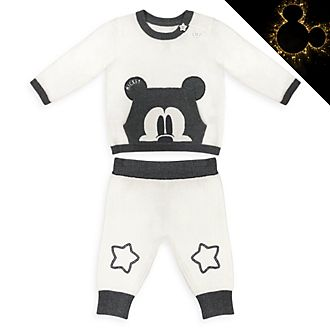 Disney Store Mickey Mouse Baby Knitted Top and Bottoms Set