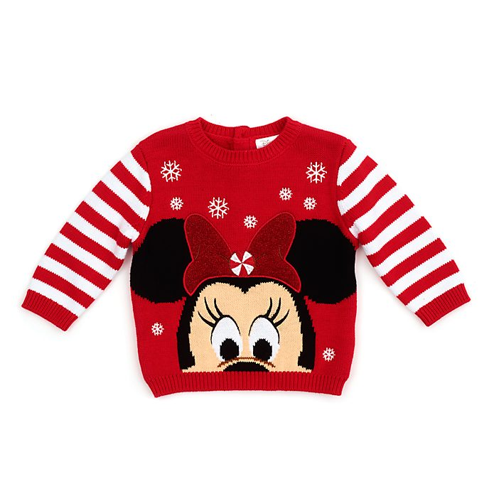 Disney Store Minnie Mouse Holiday Cheer Baby Jumper