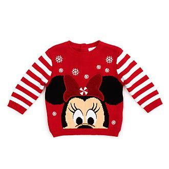 Disney Store Pull Minnie pour bébés, Holiday Cheer