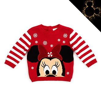 Jersey Minnie Mouse para bebé, Holiday Cheer, Disney Store