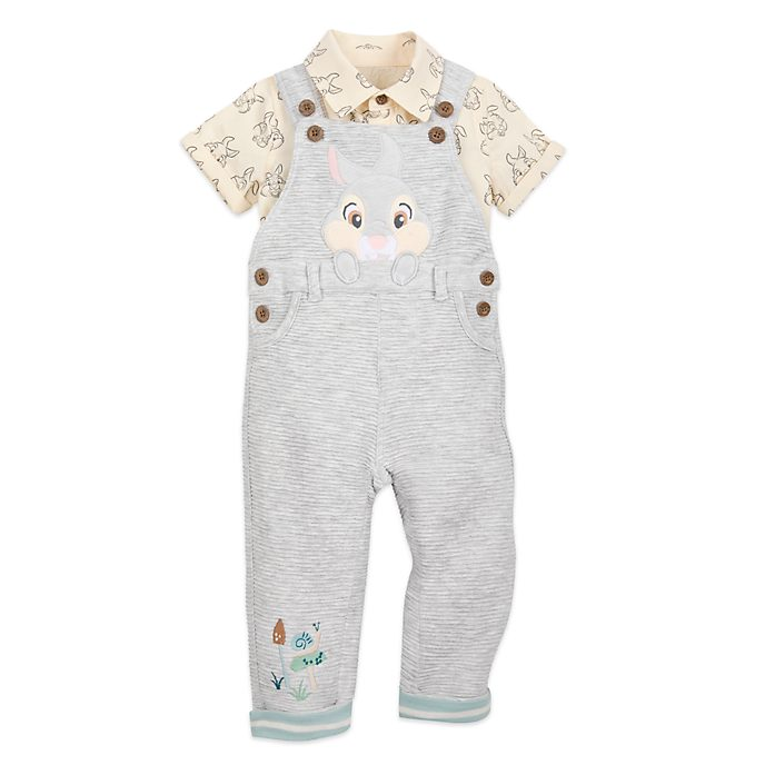 Disney Store Thumper Baby Dungaree and Shirt Set