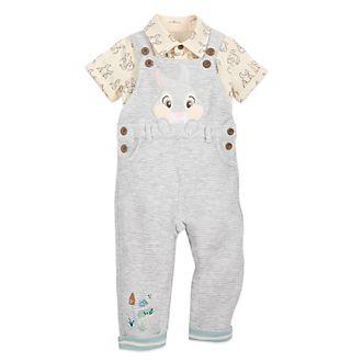 Disney Store Thumper Baby Dungaree and Shirt Set