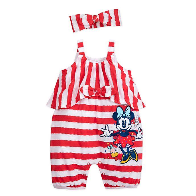 Conjunto mono y diadema Minnie Mouse para bebé, Disney Store