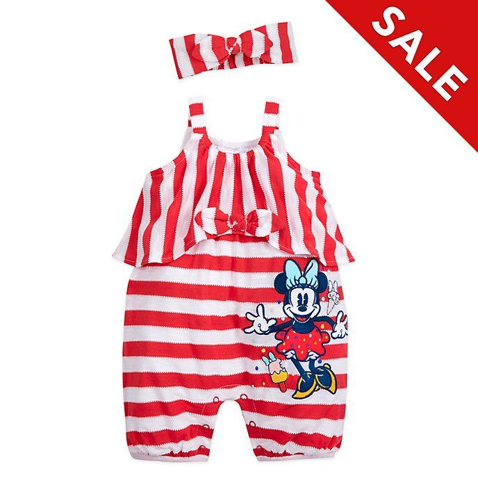 Disney Store - Minnie Maus - Set aus Strampler und Stirnband für Babys