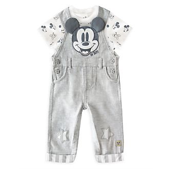 Disney Store Mickey Mouse Baby Dungaree and Body Suit