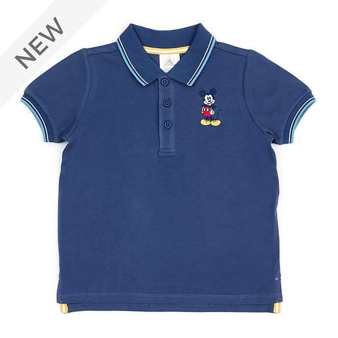 Disney Store Mickey Mouse Navy Polo Shirt For Toddlers & Kids