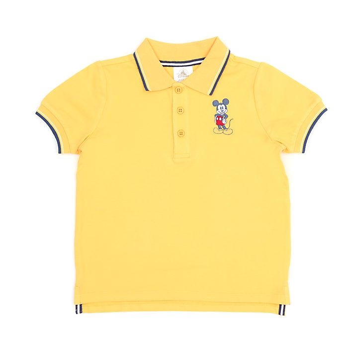 Disney Store Mickey Mouse Yellow Polo Shirt For Toddlers & Kids