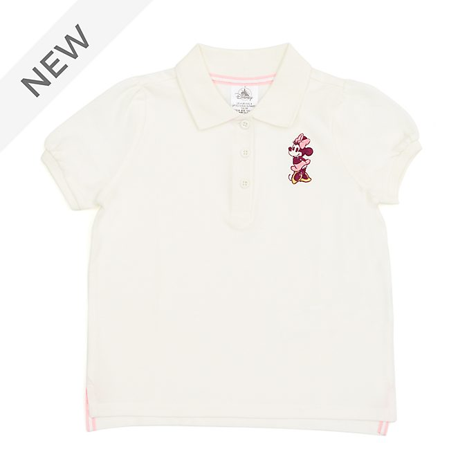 Disney Store Minnie Mouse Cream Polo Shirt For Toddlers & Kids