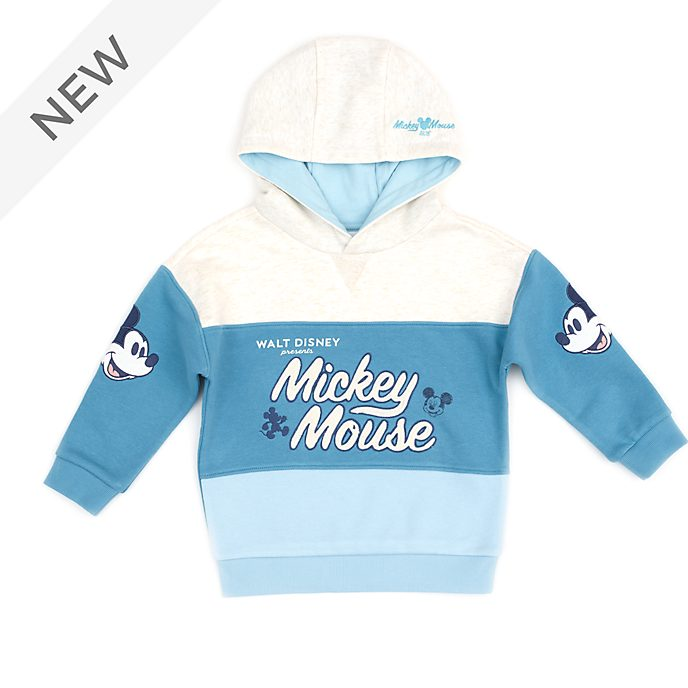 Disney Store Mickey Mouse Teal Hooded Sweatshirt For Toddlers & Kids