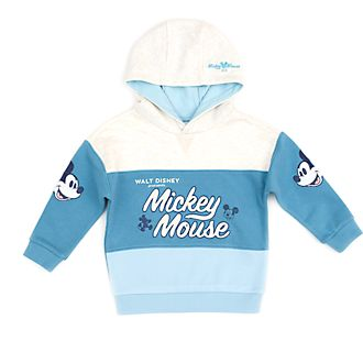 Felpa con cappuccio bimbi e baby Topolino turchese Disney Store