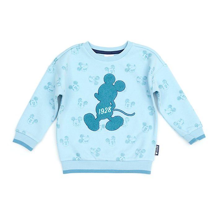 Disney Store Sweat Mickey turquoise pour bébés et enfants