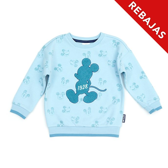 Sudadera Mickey Mouse verde azulado infantil, Disney Store