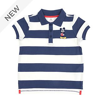 Disney Store Mickey Mouse Block Stripe Polo Shirt For Toddlers & Kids