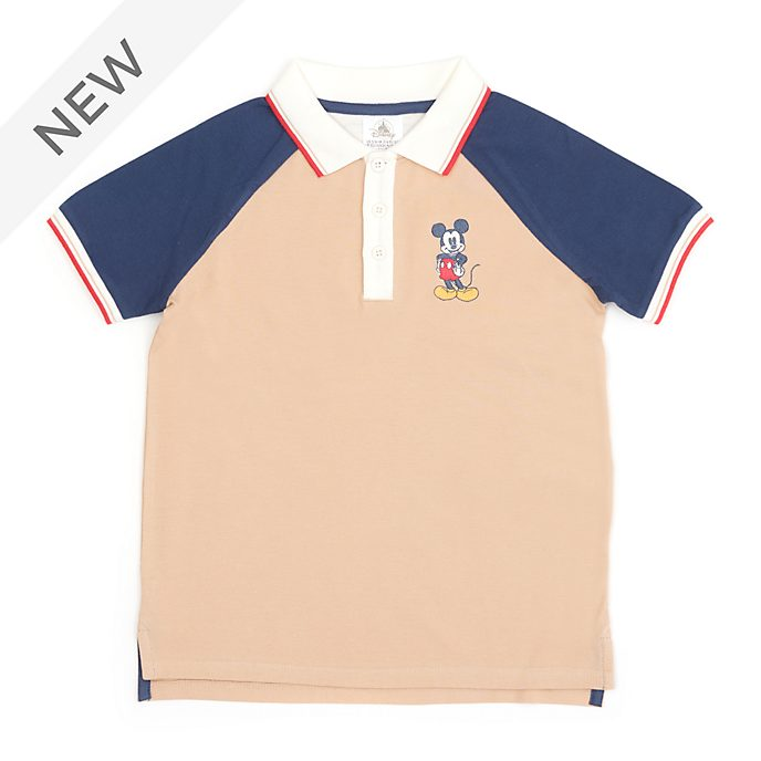 Disney Store Mickey Mouse Stone Polo Shirt For Toddlers & Kids