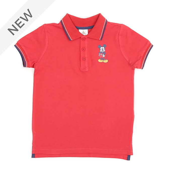 Disney Store Mickey Mouse Red Polo Shirt For Toddlers & Kids