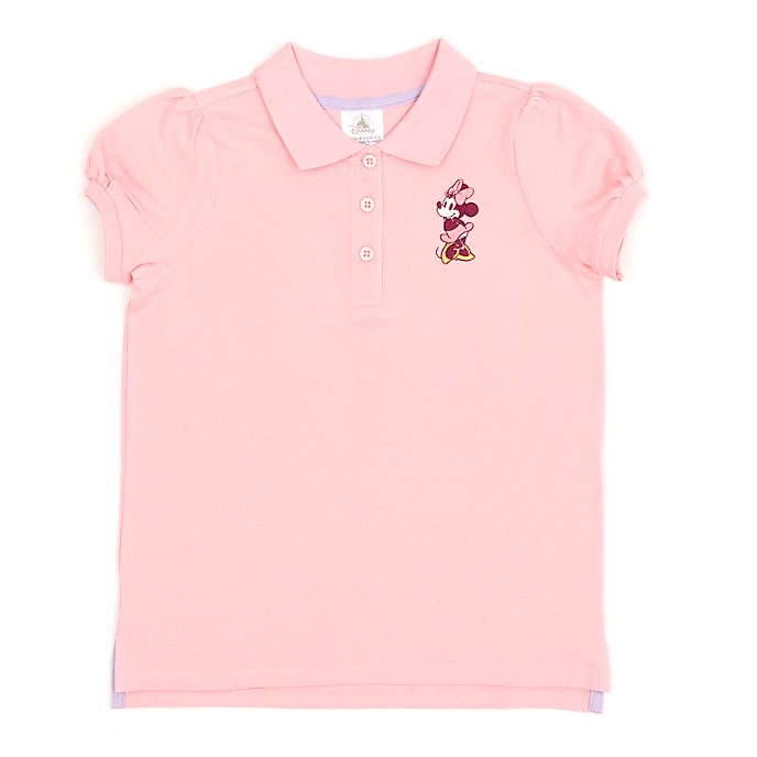 Disney Store Minnie Mouse Pink Polo Shirt For Toddlers & Kids
