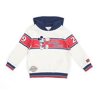 Disney Store - Micky Maus - Weißes und Blaues Kapuzensweatshirt für Babys & Kinder