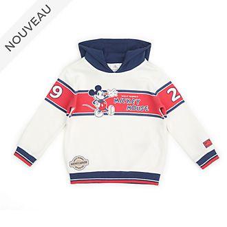 Disney Store Sweatshirt Mickey à capuche blanc et bleu pour bébés et enfants