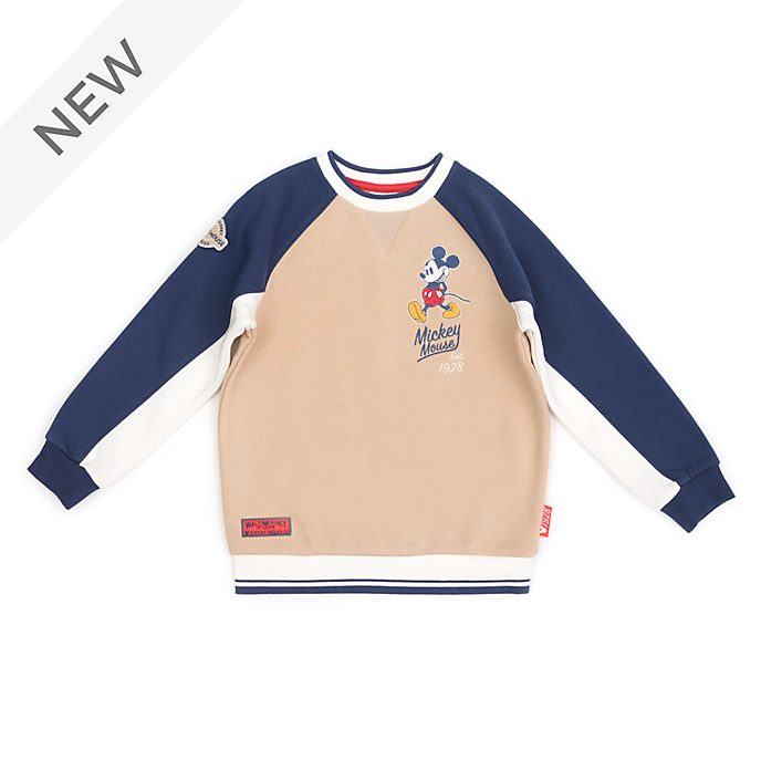 Disney Store Mickey Mouse Stone Sweatshirt For Toddlers & Kids