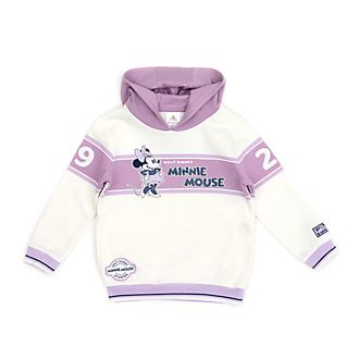Disney Store Minnie Mouse White and Violet Hooded Sweatshirt For Toddlers & Kids