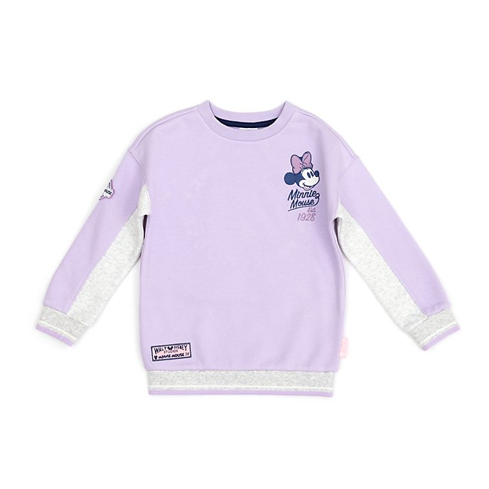 Disney Store Minnie Mouse White and Violet Sweatshirt For Toddlers & Kids
