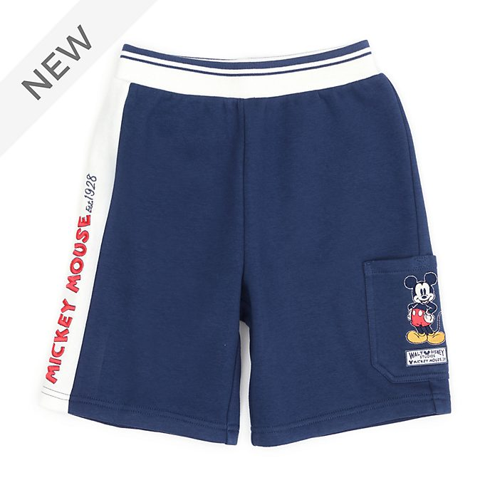 Disney Store Mickey Mouse Sweatshirt Shorts For Toddlers & Kids