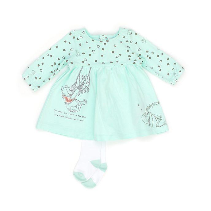 Disney Store - Winnie Puuh und Freunde - Set aus Kleid und Strumpfhose für Babys