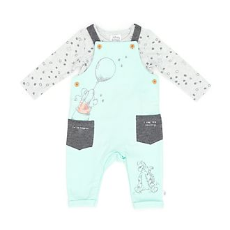 Disney Store Winnie the Pooh and Friends Baby Dungaree and Body Suit Set