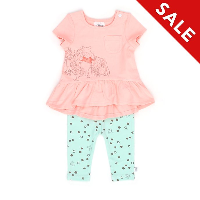 Disney Store Winnie the Pooh and Friends Baby Short-Sleeve Top and Bottoms Set