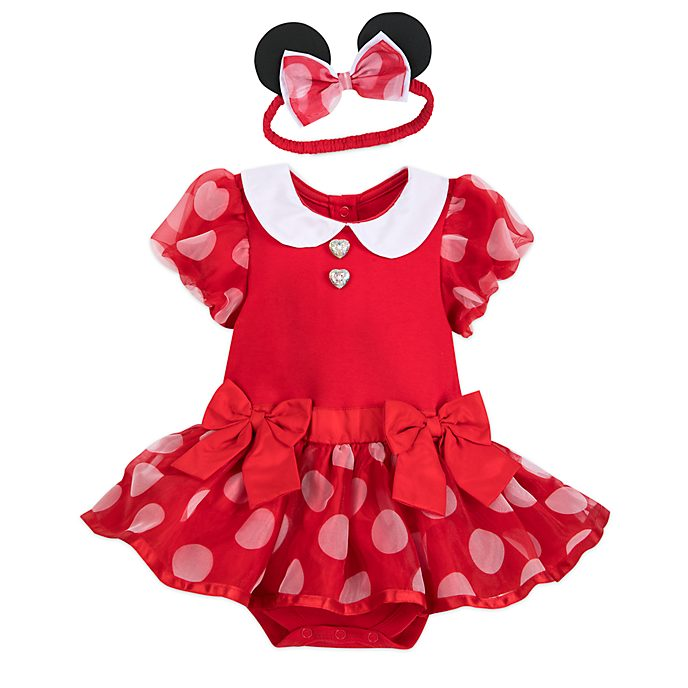 Disney Store Minnie Mouse Red Baby Costume Body Suit