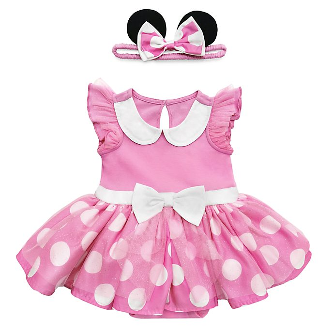 Disney Store Minnie Mouse Pink Baby Costume Body Suit