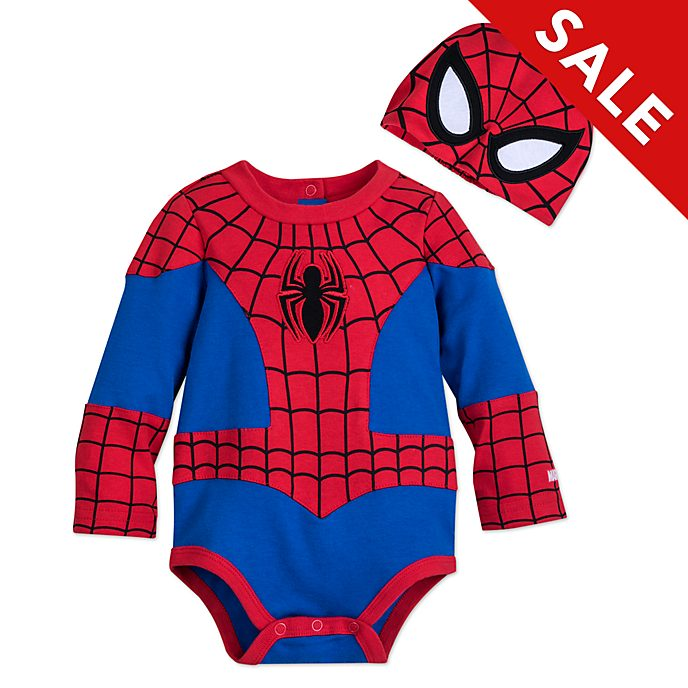 Disney Store Spider-Man Baby Costume Body Suit