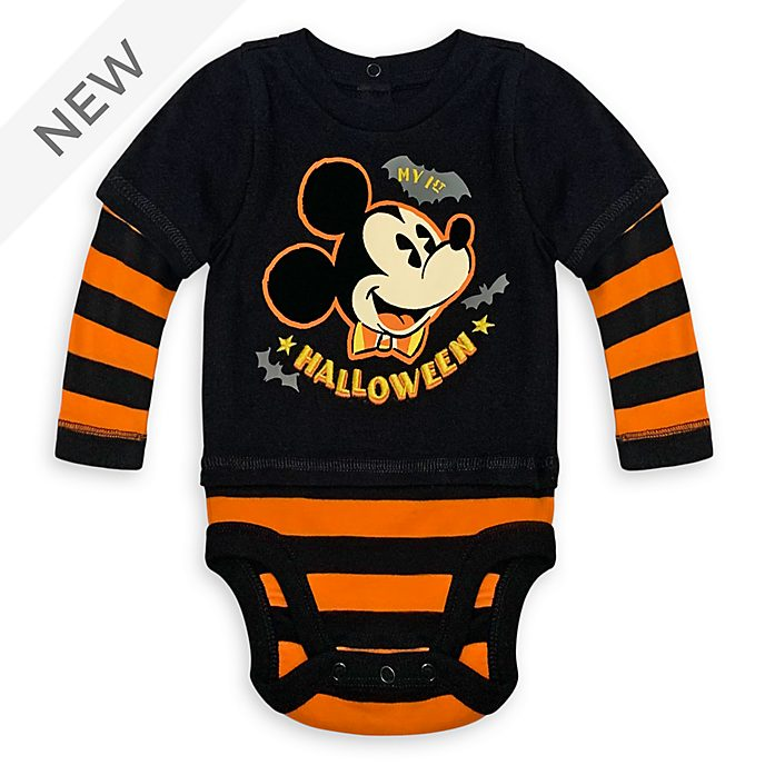 Disney Store Mickey Mouse Halloween Baby Costume Body Suit