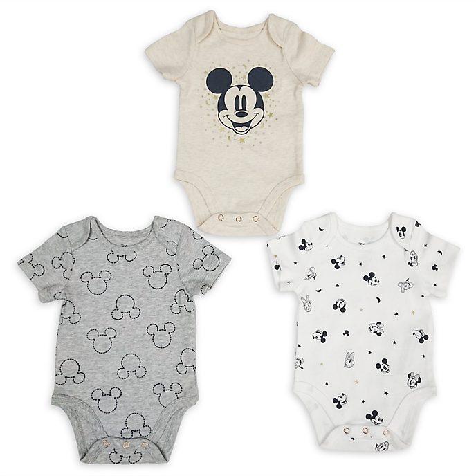 Disney Store Lot de 3bodys Mickey et ses Amis pour bébé