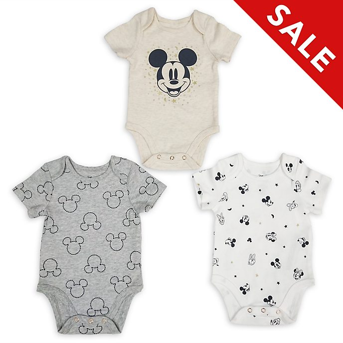 Disney Store Mickey and Friends Baby Body Suits, Set of 3